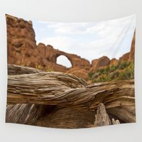 utah Wall Tapestries featuring Layers of Texture - Moab, Utah by Susy Margarita Gomez