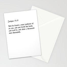 Judges 15:15 Stationery Cards