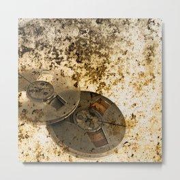 Old Audio reels background Metal Print