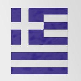 Greece flag emblem Throw Blanket
