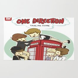 Take Me Home Cartoon One Direction Rug