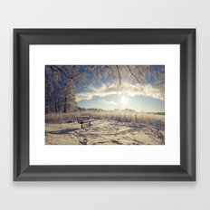 Sit and chill Framed Art Print