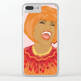Celia Cruz | Bad Ass Women Series Clear iPhone Case