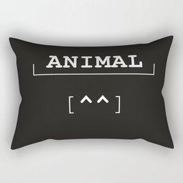 Animal - typography meets ascii art Rectangular Pillow