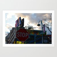 Stop Sign and King Kong Art Print