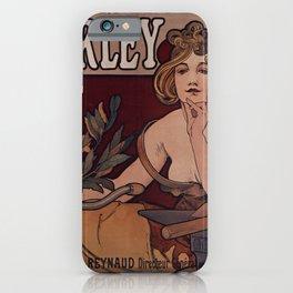 Waverley Cycles Alphonse Mucha 1898 iPhone Case