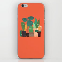 The plants are watching (paranoidos maximucho) iPhone Skin