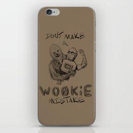wookie mistake iPhone Skin