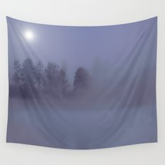 Silent Night in Foggy Atmosphere Wall Tapestry