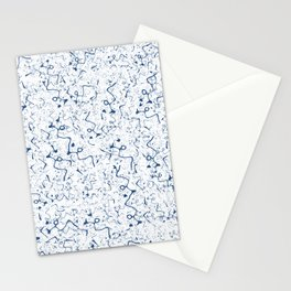Funky Blue Lines Stationery Cards