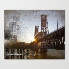Portland Steel Bridge Canvas Print