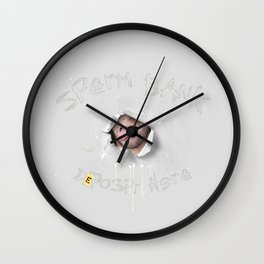 Sperm Bank (NSFW) Wall Clock