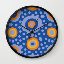 Rapsody in blue Wall Clock