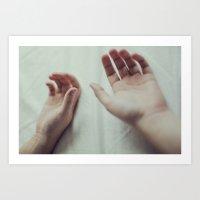 The open hands Art Print