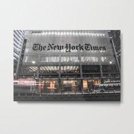 The New York Times Metal Print