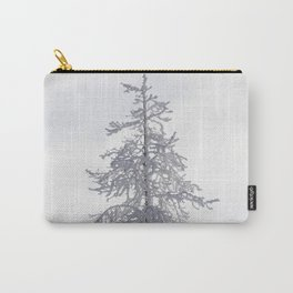Yellowstone National Park - Ice Covered Tree Carry-All Pouch