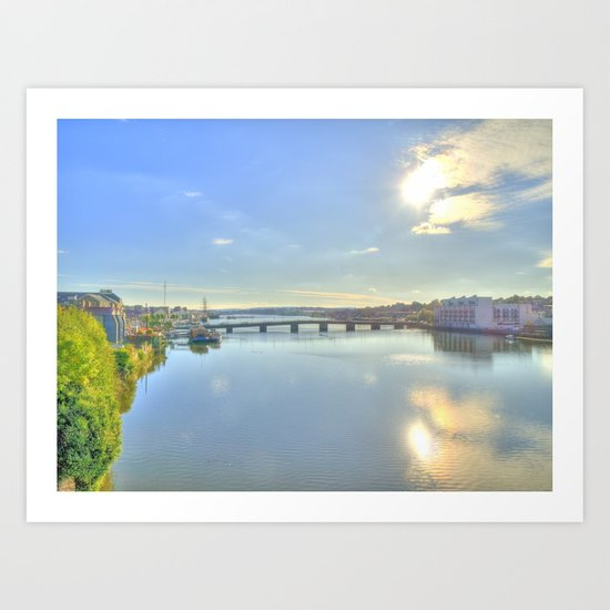 View of New Ross Bridge, Co. Wexford Art Print