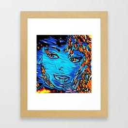Baby Blu Framed Art Print