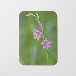 Beauty in nature, wildflower Gladiolus illyricus Bath Mat
