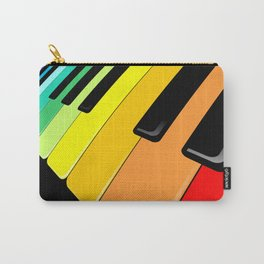 Piano Keyboard Rainbow Colors  Carry-All Pouch