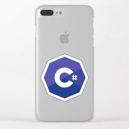 c# developers logo dot net Clear iPhone Case