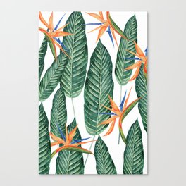 Banana And Flowers #society6 Canvas Print