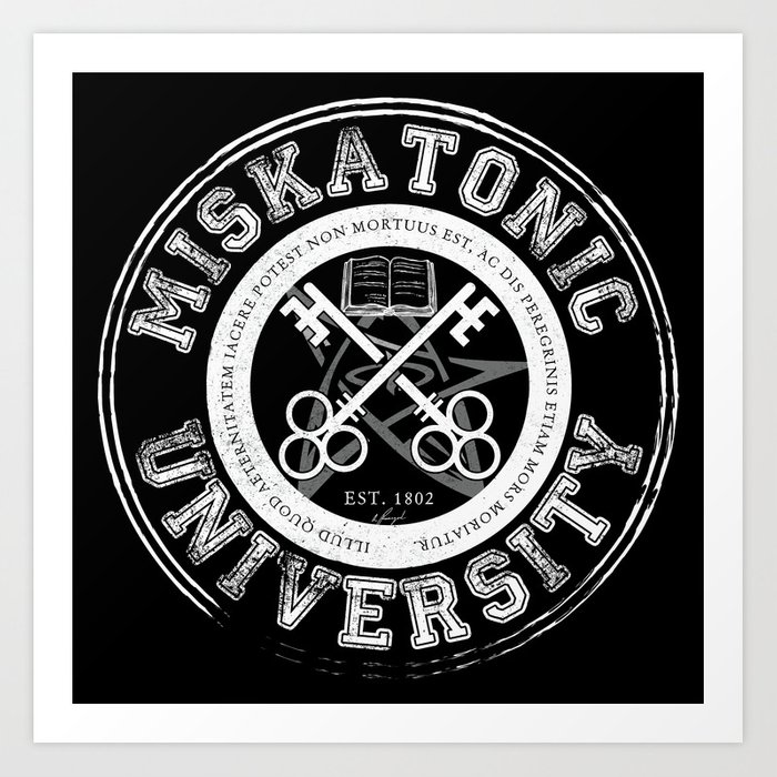 Miskatonic University Emblem (Dark version) Art Print