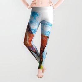 Horse colourfull illustration Leggings