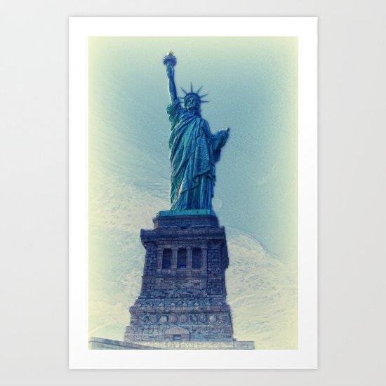 Liberty statue vintage Art Print