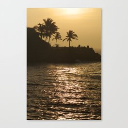 Pacific Palm Trees in the Sunset Canvas Print