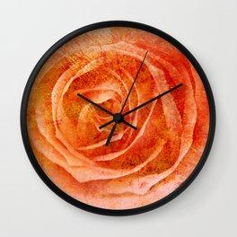 Orange Rose Mix Wall Clock