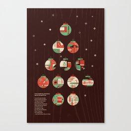 The Twelve Days of a Designers Christmas Canvas Print