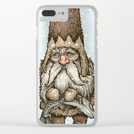 Siberian Gnome Clear iPhone Case