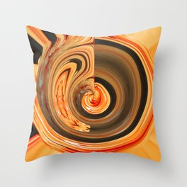 Strawberry Floral Down The Drain v.1 Throw Pillow