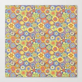 Millefiori-Happy Colors Canvas Print