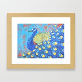 Peacock: Grace Under Fire Framed Art Print
