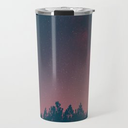 Pink And Black Milky Way Galaxy Forest Travel Mug
