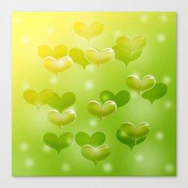 sweethearts green Canvas Print