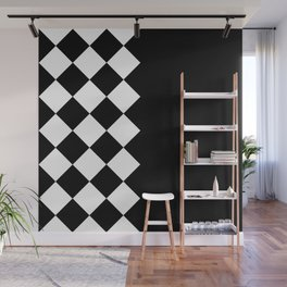 HIGH CONTRAST PATTERN (BLACK-WHITE) Wall Mural