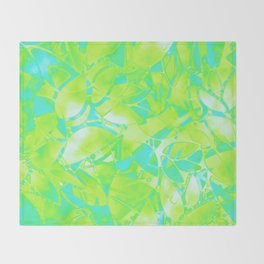 Grunge Art Floral Abstract G170 Throw Blanket