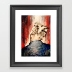 shadow at evening rising Framed Art Print