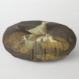 Albert Bierstadt - Rocky Mountain Goats Floor Pillow