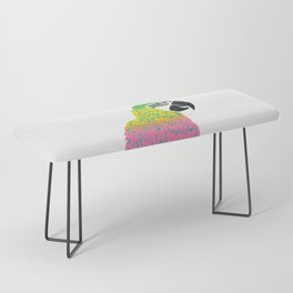 Electrifying Parrot Bench