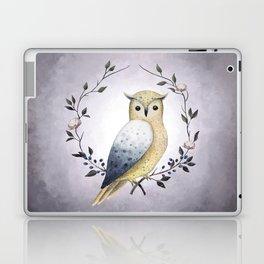 A Long Eared Owl On A Laurel Laptop & iPad Skin