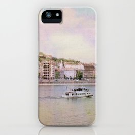 Dreamy Riverboat Cruising the Danube River in Budapest iPhone Case
