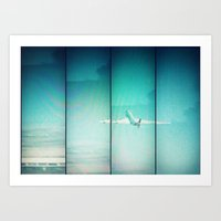 airplane Art Prints featuring Airplane by Joan Horne