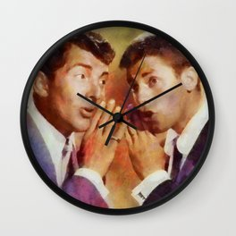 Dean Martin and Jerry Lewis, Vintage Hollywood Legends Wall Clock