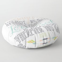Joshua 1:9 Christian Bible Verse Typography Design Floor Pillow