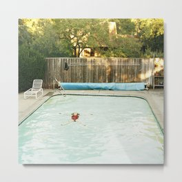 Pool Angel Metal Print