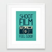 film Framed Art Prints featuring Shoot Film by Victor Vercesi